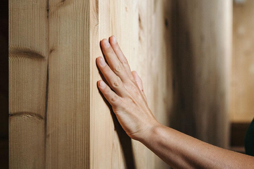 parete in legno biologicamente sostenibile